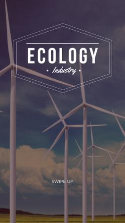 Plantilla de diseño de Renewable Energy Wind Turbines Farm Instagram Story