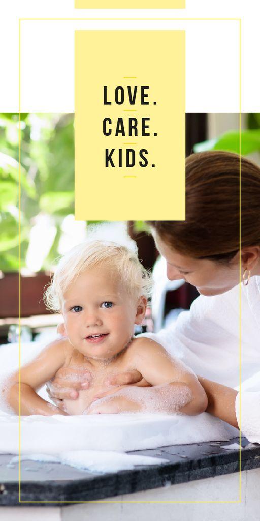 Mother bathing child — ein Design erstellen