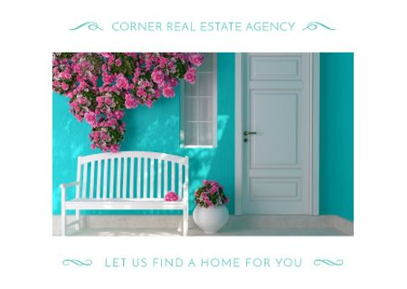 Real estate agency advertisement Card Design Template