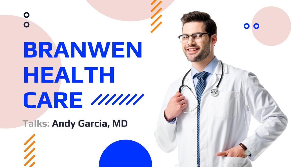 Confident Doctor with Stethoscope — Создать дизайн