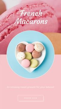 Bakery Ad Macarons on Heart-Shaped Plate
