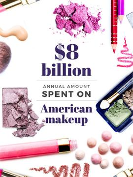 Makeup sales statistics with Cosmetics products