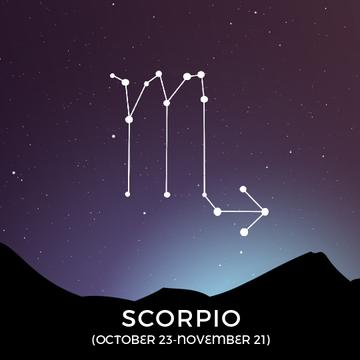 Night sky with Scorpio constellation
