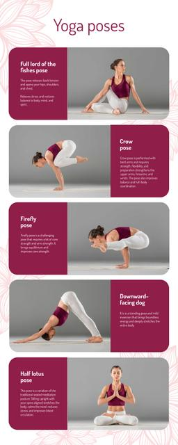 List infographics about Yoga Poses Infographicデザインテンプレート