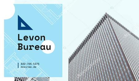 Architectural Bureau Ad Modern Skyscraper Business card – шаблон для дизайна
