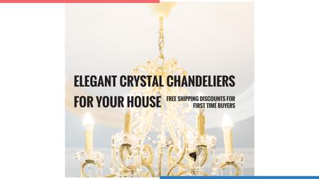 Plantilla de diseño de Elegant Crystal Chandelier Ad in White Youtube