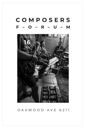 Plantilla de diseño de Composers Forum with Musicians on Stage Tumblr