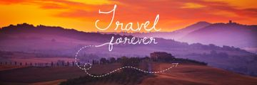 Travelling Inspiration Scenic Sunset Landscape | Twitter Header Template