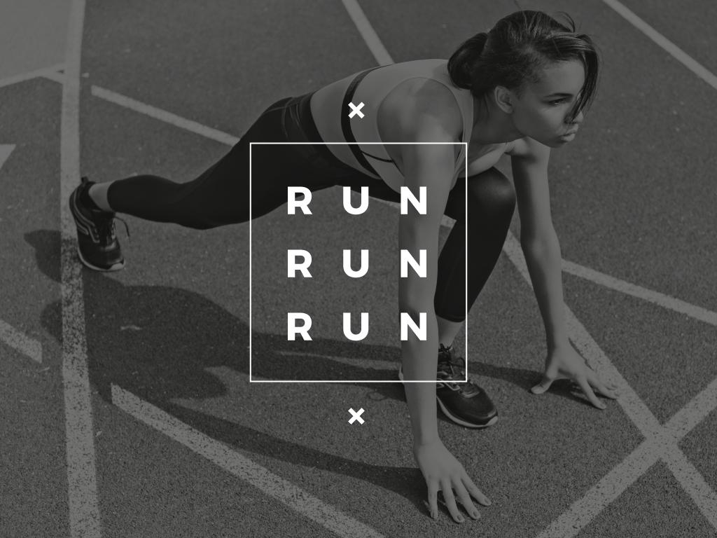 Running poster in sepia tone — Créer un visuel