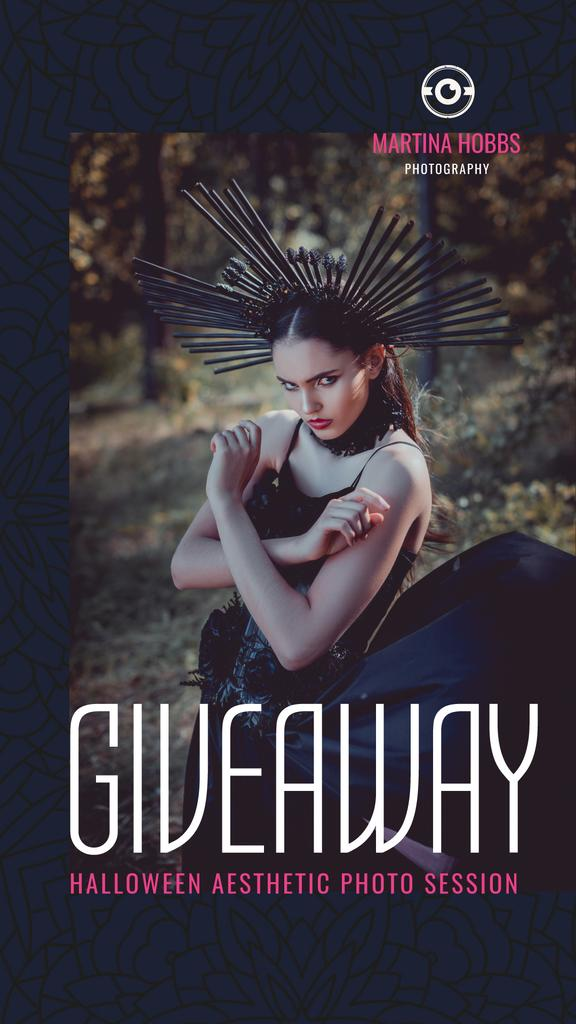 Halloween Photo Session Giveaway Woman in Costume — Maak een ontwerp