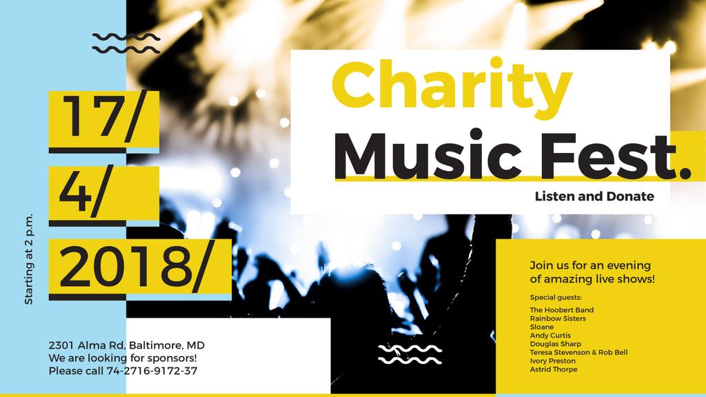 Music Fest Invitation Crowd at Concert | Youtube Channel Art — Створити дизайн