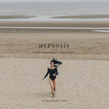 New Swimwear Offer with Young Woman on the beach