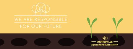 Plantilla de diseño de Farmer hands planting seedlings Facebook Video cover