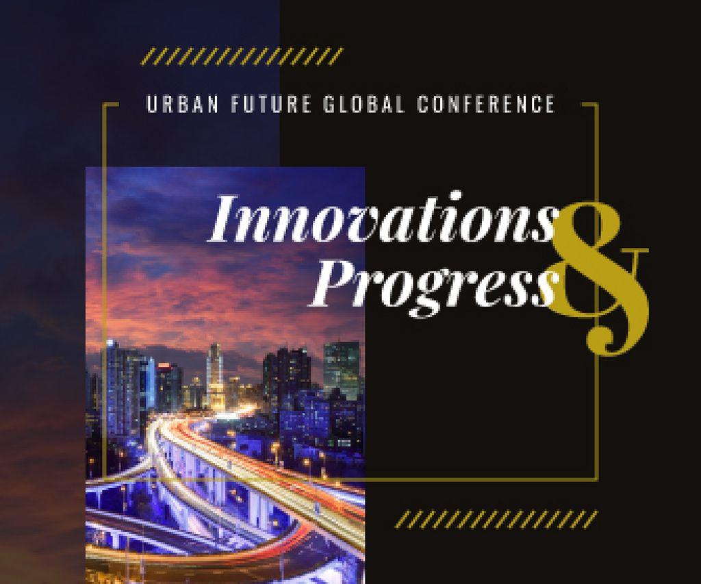 Urbanism Conference Announcement City Traffic Lights — Создать дизайн