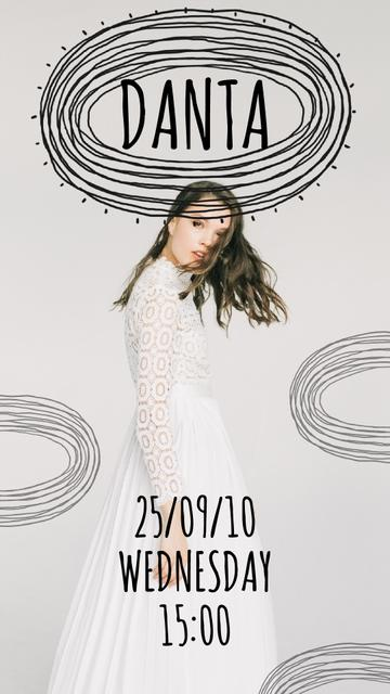 Plantilla de diseño de Woman Wearing White Dress Instagram Video Story