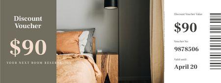 Designvorlage Hotel Reservation offer für Coupon