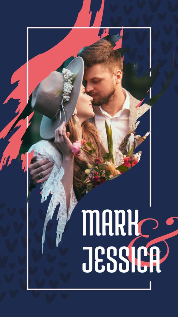 Happy newlyweds on their wedding day — Create a Design