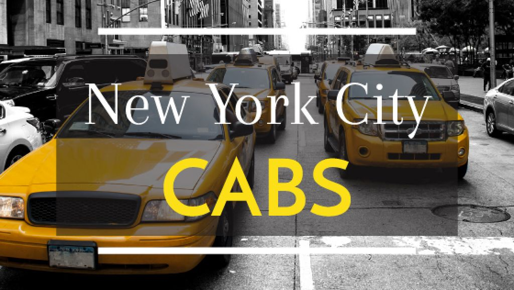 Taxi Cars in New York city — Створити дизайн