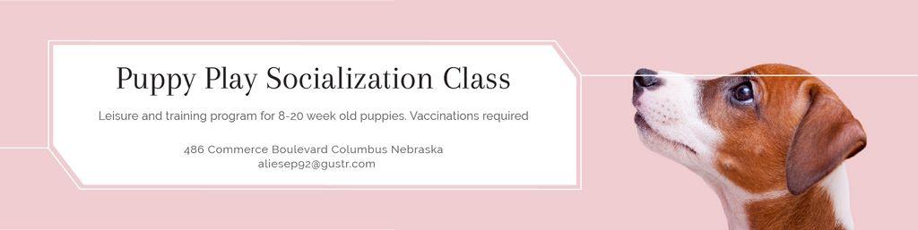 Puppy play socialization class Twitter – шаблон для дизайна