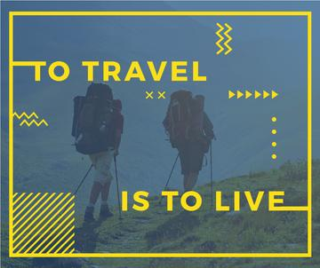 mountain hiking travel poster with inspirational quote