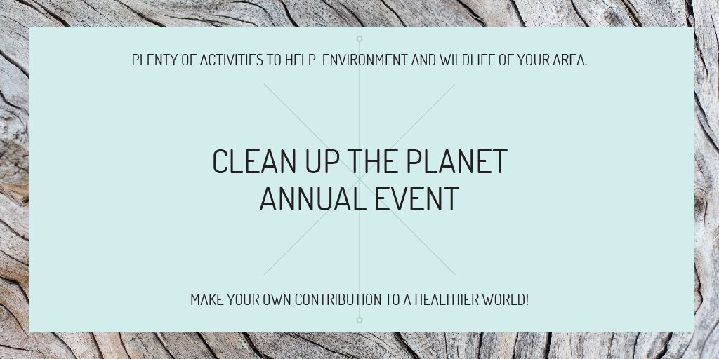 Clean up the Planet Annual event — Создать дизайн