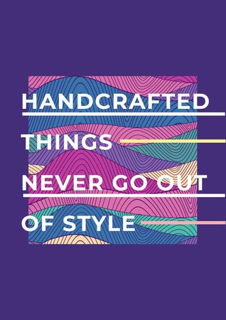 Designvorlage Citation about Handcrafted things für Poster