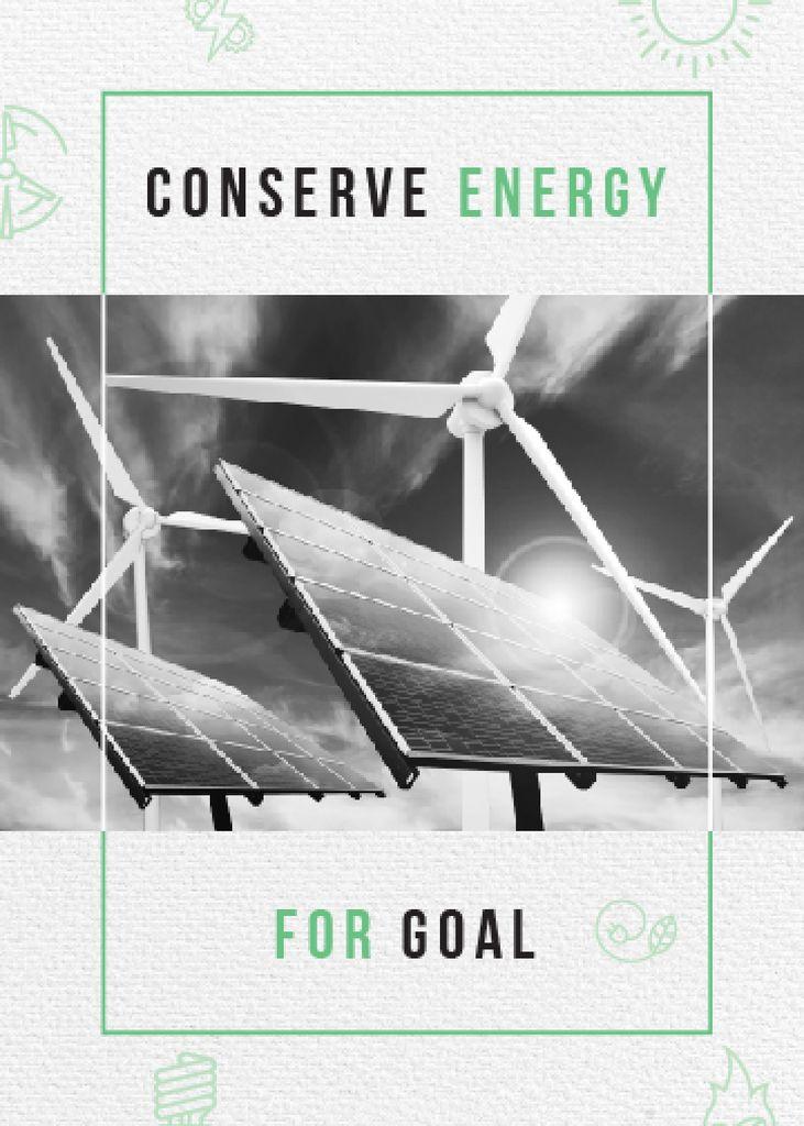 Wind Turbines and Solar Panels — Создать дизайн