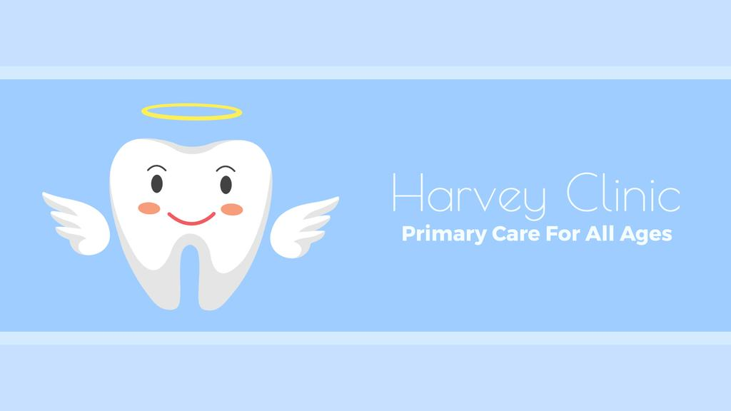 Dentistry Ad Cartoon Angel Tooth Character — Создать дизайн