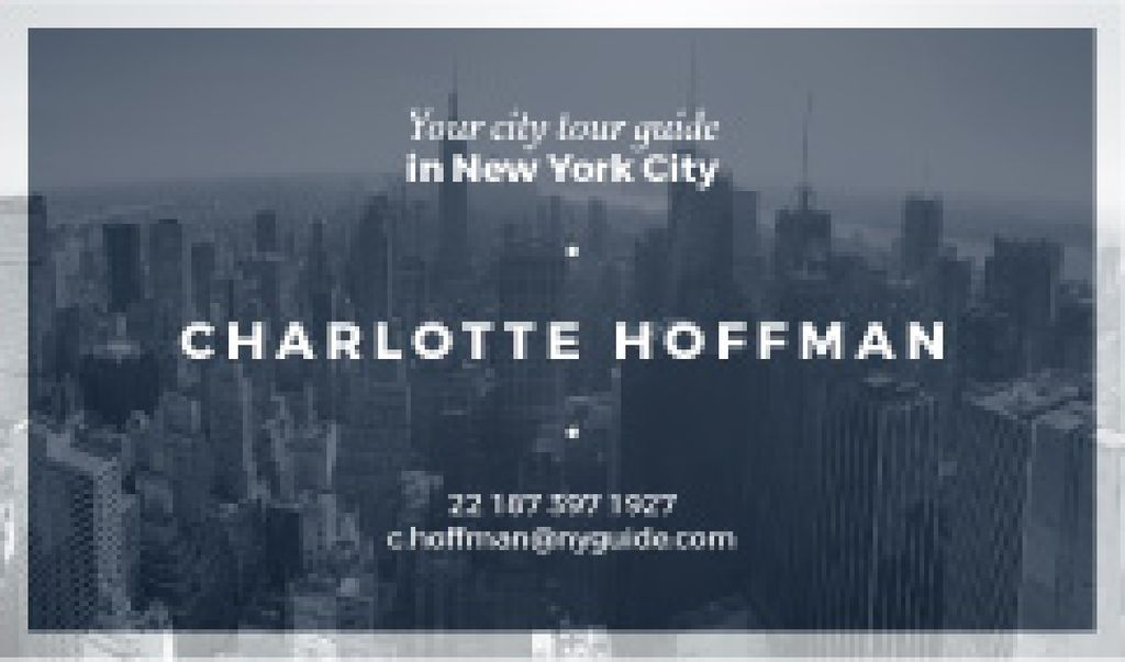 City Tour Guide Ad Skyscrapers in Blue — Crea un design