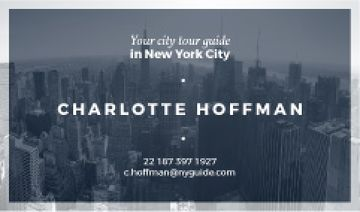 city tour guide card