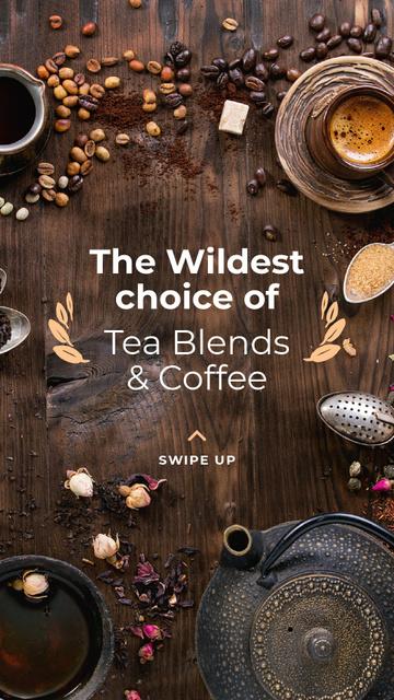 Coffee and Tea blends Offer Instagram Story – шаблон для дизайну