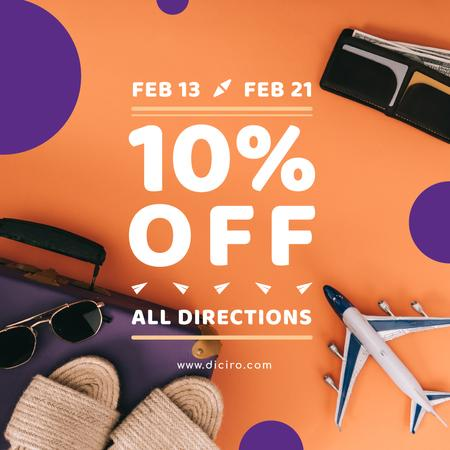 Special Sale with Travel Accessories Instagram – шаблон для дизайну