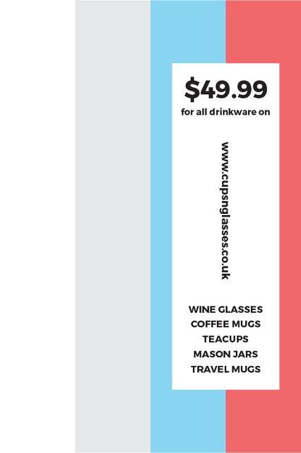 Shop Sale announcement on colorful Stripes Tumblr – шаблон для дизайна