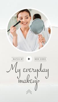 Beauty Blog Promotion Woman Applying Foundation