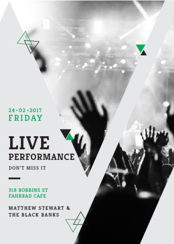Live Performance Announcement with audience — Crear un diseño