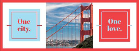 Travelling San Francisco Facebook cover Modelo de Design