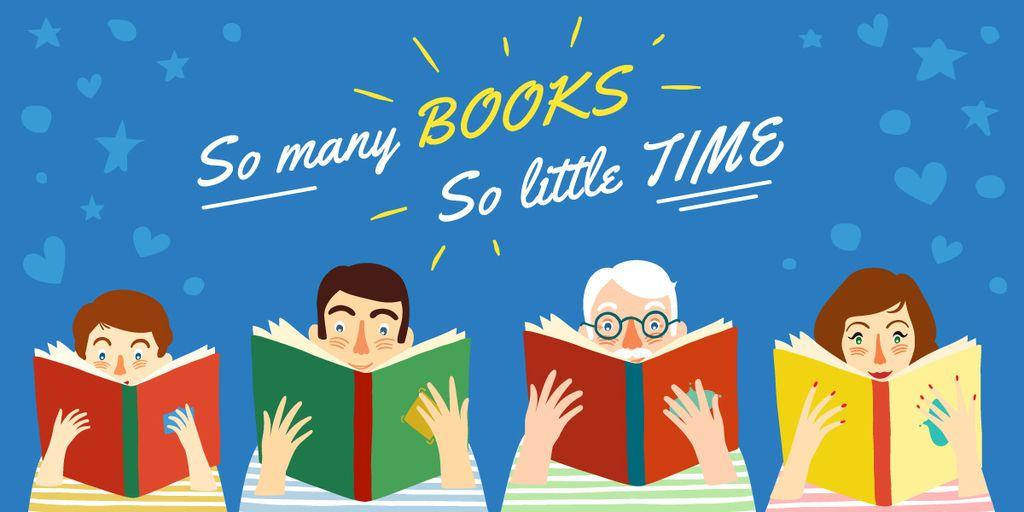 So many book so little time poster — Crea un design