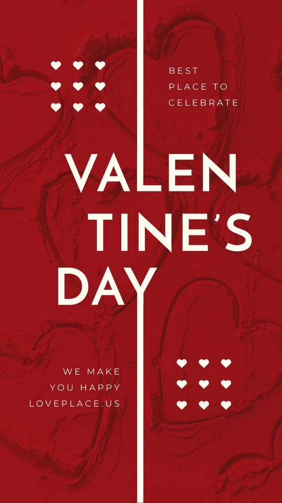 Red hearts pattern — Створити дизайн