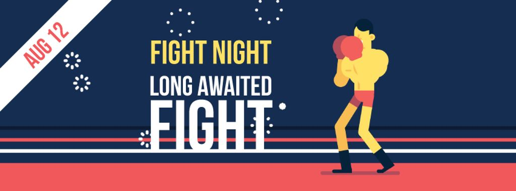 Man boxing on ring — Create a Design