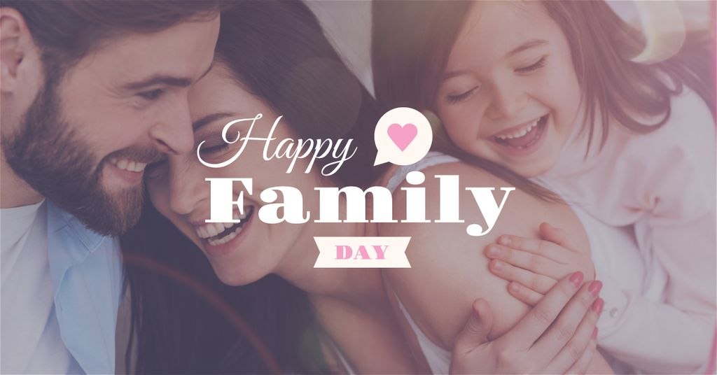 Happy family day poster — Modelo de projeto