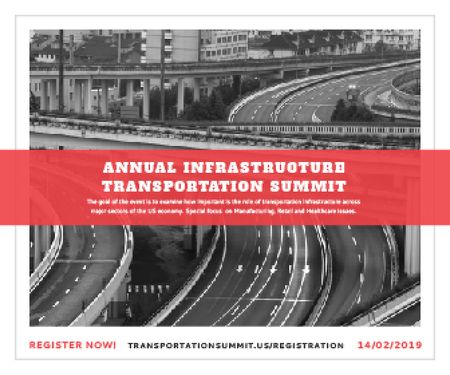 Ontwerpsjabloon van Large Rectangle van Annual infrastructure transportation summit