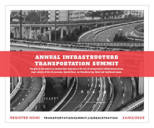 Szablon projektu Annual infrastructure transportation summit Large Rectangle