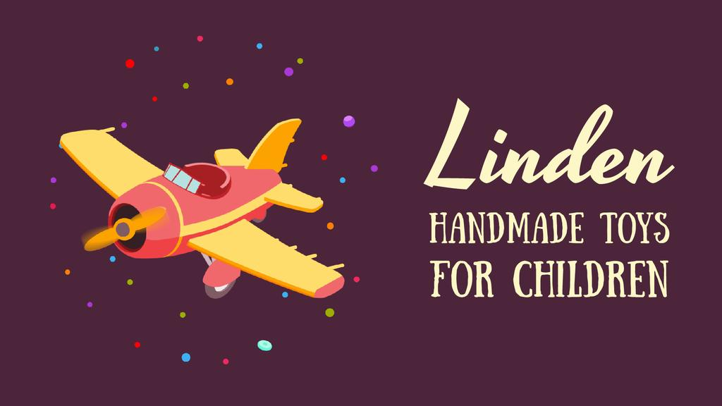 Toys Store Offer Flying Toy Plane — Crear un diseño