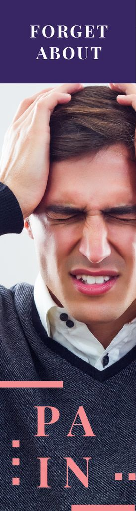 Man suffering from headache — Create a Design