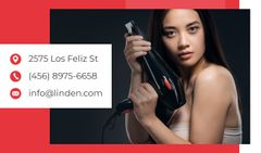 Hair Salon Ad with Woman with Brunette Hair