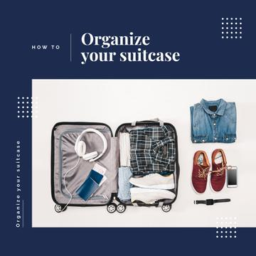 Clothes in travel suitcase