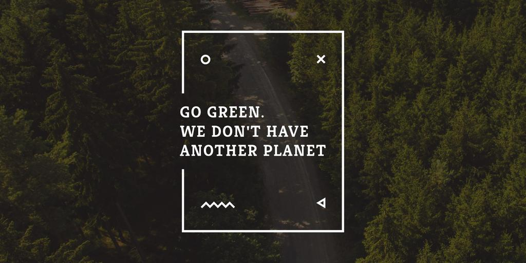 Citation about green planet — Maak een ontwerp