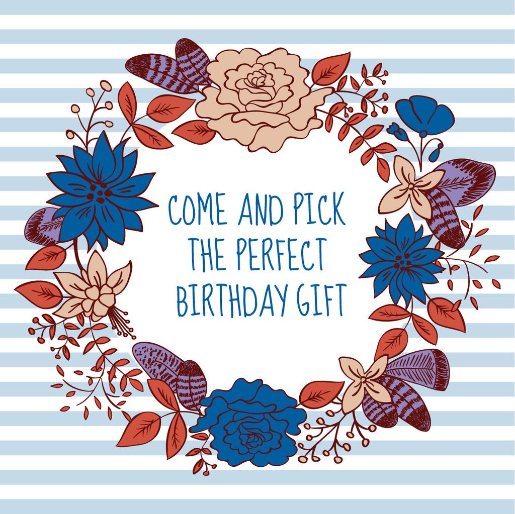 Birthday gift in Flower Wreath - Vytvořte návrh