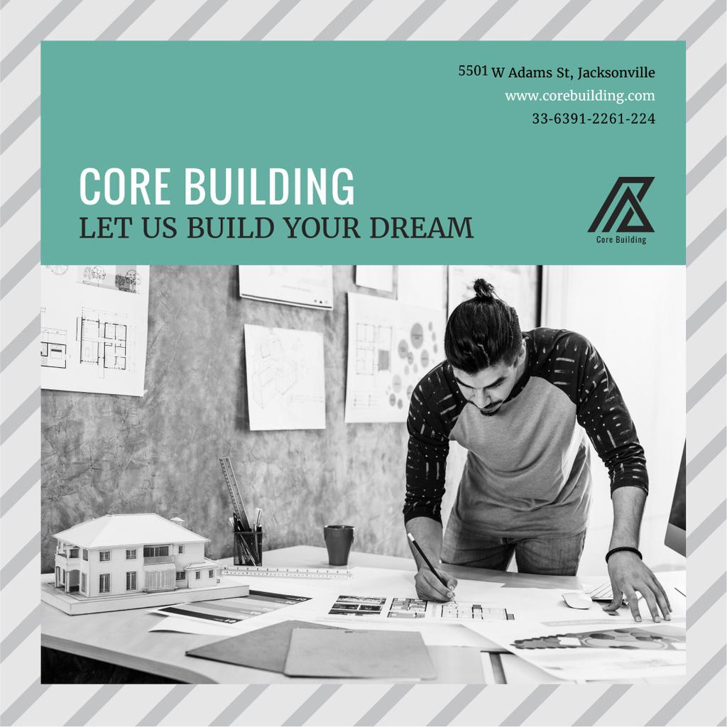 Core building agency advertisement — Создать дизайн