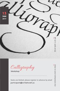 Calligraphy workshop Announcement